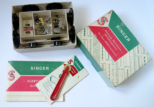 Slantomatic Singer 503 Sewing Accessories in Original Box