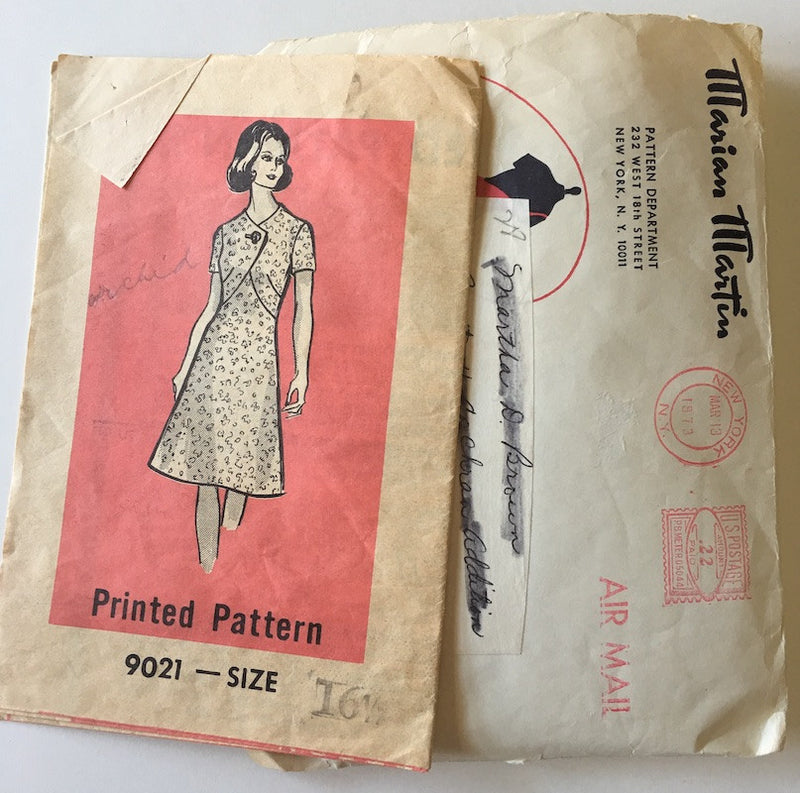1970s Vintage Mail Order Sewing Pattern - 1970s Dress Pattern, Marian Martin 9021