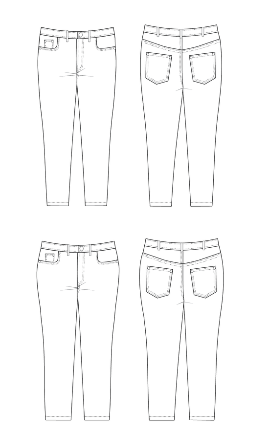 Cashmerette Ames Jeans Paper Sewing Pattern
