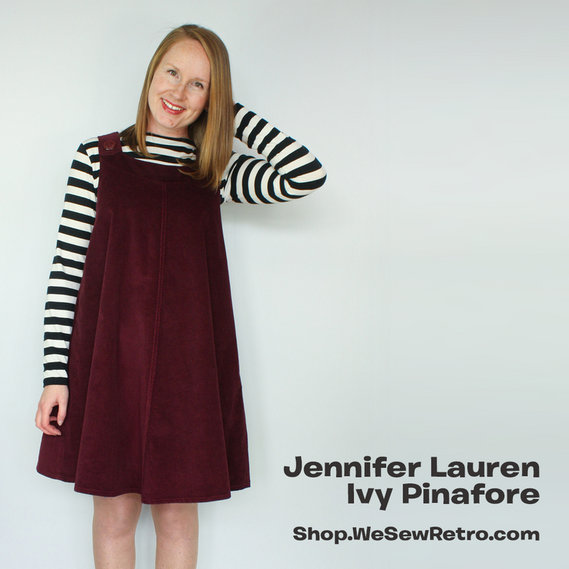 Jennifer Lauren Ivy Pinafore PDF Sewing Pattern