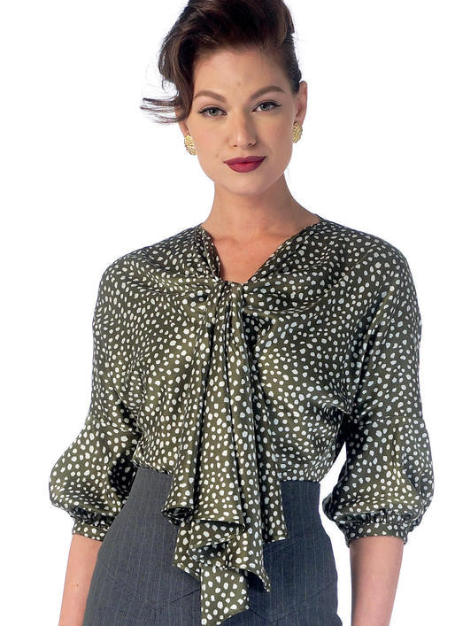 M7053 1930s Tops Sewing Pattern - McCalls 7053 Blouse Sewing Pattern