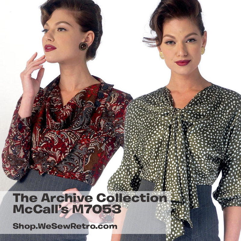 0a43c0a6027 M7053 1930s Tops Sewing Pattern - McCalls 7053 Blouse Sewing Pattern