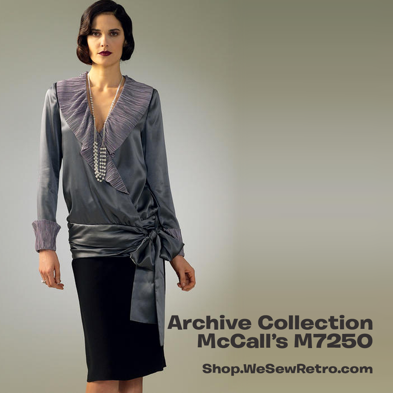 M7250 1920s Tops Sewing Pattern - McCalls 7250 Blouse Sewing Pattern