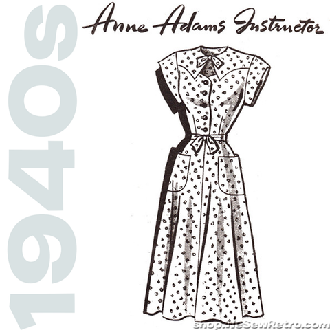 1940s Vintage Mail Order Sewing Pattern: Anne Adams 4523