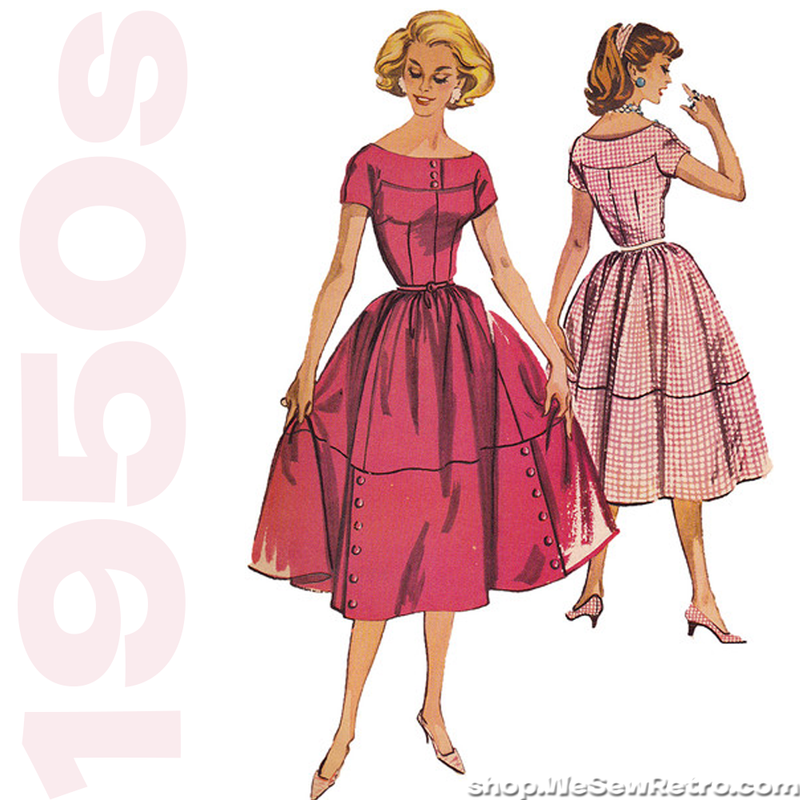 1950s Vintage Sewing Pattern: McCalls 4527 Misses Dress