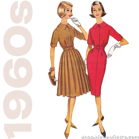 1960s Vintage Sewing Pattern: McCalls 5542 Misses Dress