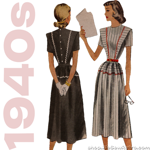 1940s Dress Vintage Pattern - McCall 7138