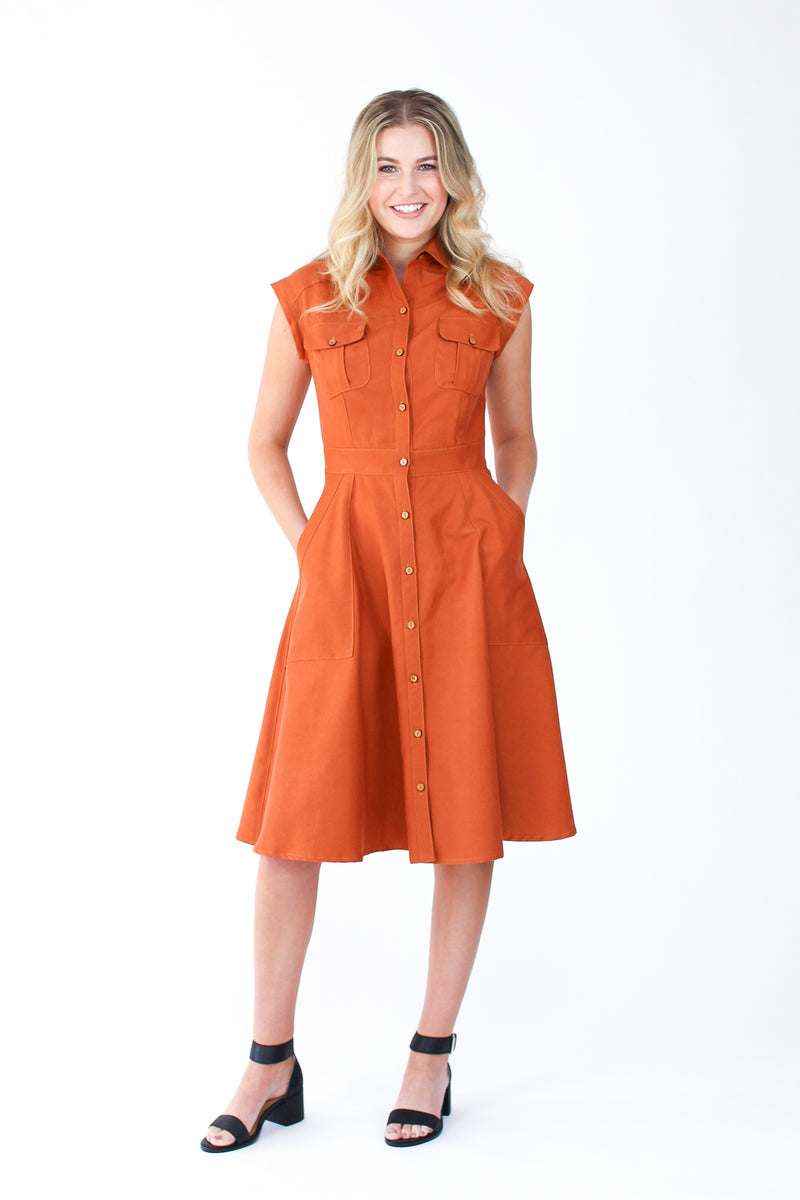Megan Nielsen Matilda Shirtdress Paper Sewing Pattern