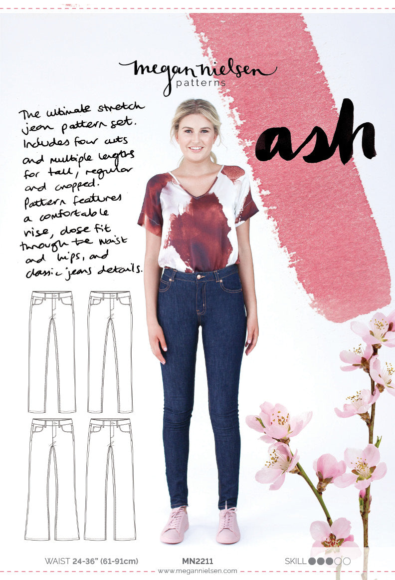 Megan Nielsen Ash Stretch Jeans Sewing Pattern - Paper Pattern