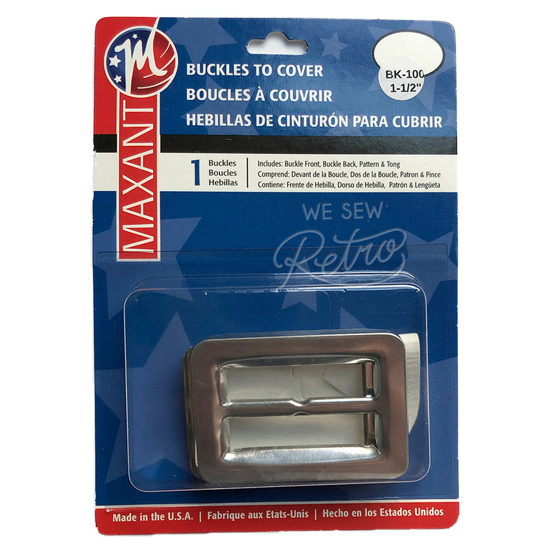 "Belt Buckle Kit - 1 1/2"" (1.5"") Buckle to Cover - Make a Matching Belt for Your Dress (BK-100)"
