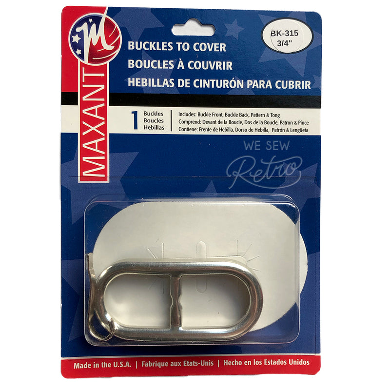 "Belt Buckle Kit - 3/4"" (0.75"") Buckle to Cover - Make a Matching Belt for Your Dress (BK-315)"