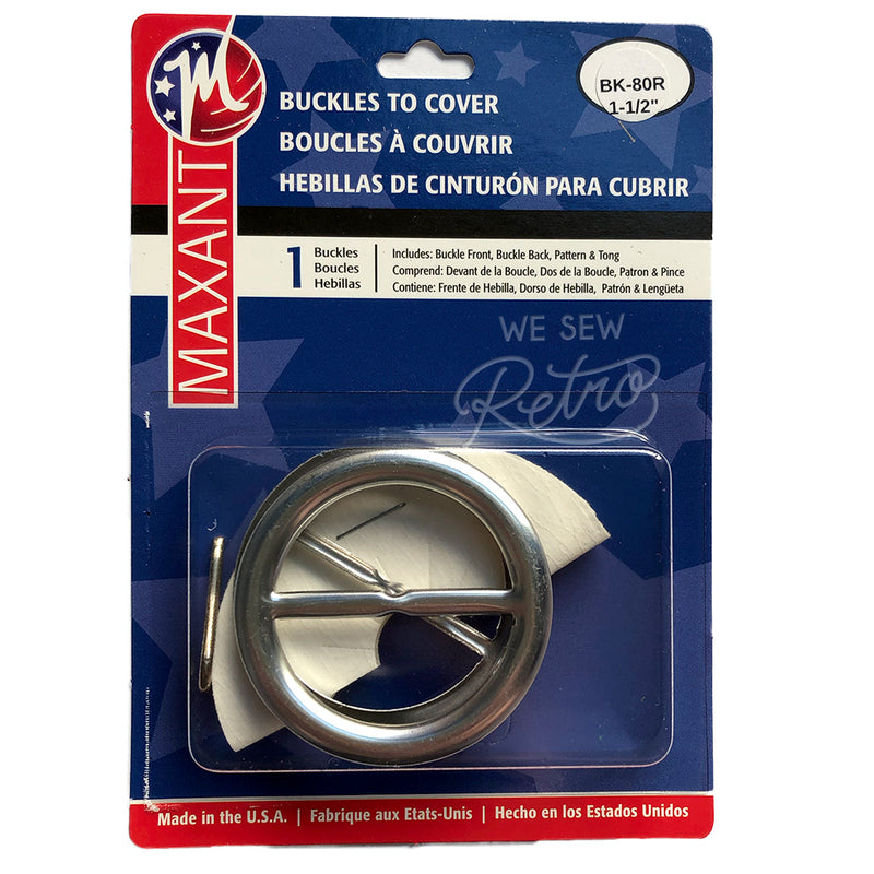 "Belt Buckle Kit - 1.5"" Buckle to Cover - Make a Matching Belt for Your Dress (BK-80R)"