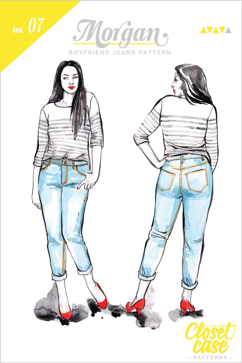 Closet Case Morgan Boyfriend Jeans Sewing Pattern - Paper