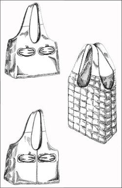 Grommet Go-Around Bag Sewing Pattern from Indygo Junction