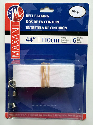 "Belt Backing Kit - 1"" Belting with Eyelets - Make a Matching Belt for Your Dress (BB-1)"