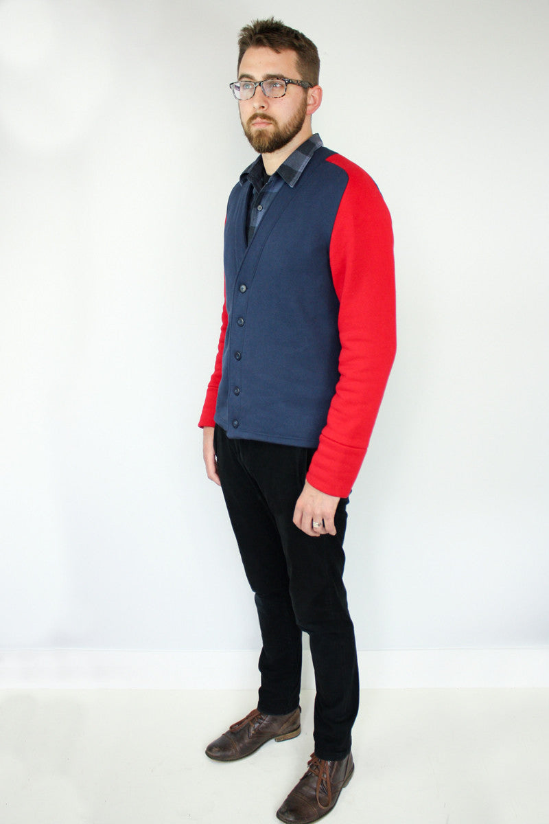 Jennifer Lauren Auden Mens Cardigan PDF Sewing Pattern