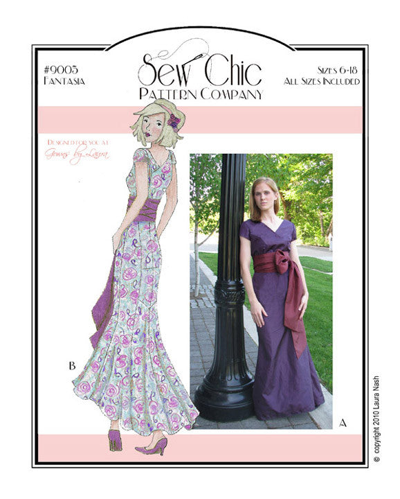 Fantasia Dress Sewing Pattern by Sew Chic Pattern Company