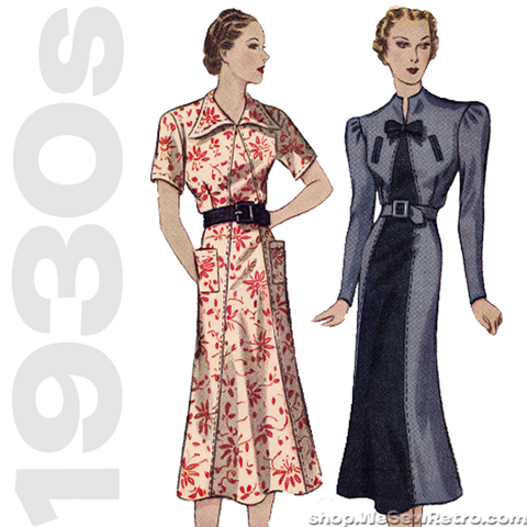 Simplicity 2349. 1930s Sewing Pattern. 1930s Dress Vintage Pattern.