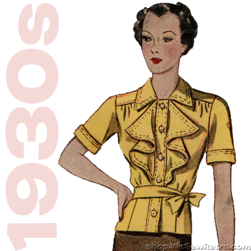 Simplicity 2463 - 1930s Blouse Vintage Sewing Pattern