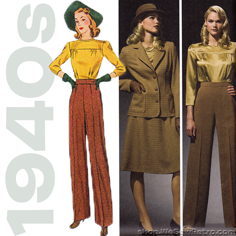 1940s Repro Vintage Sewing Pattern: Sportswear Separates. Simplicity 3688