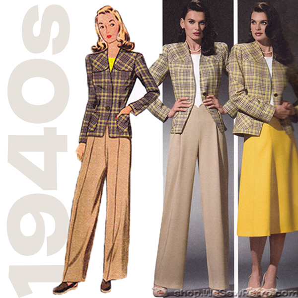 1940s Repro Vintage Sewing Pattern: Sportswear Separates. Simplicity 4044