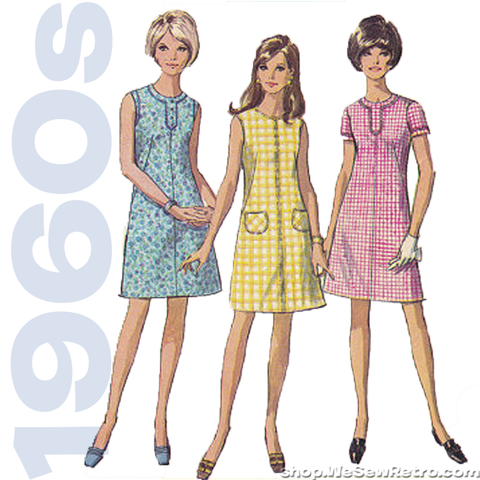 1960s A Line Dress Vintage Sewing Pattern - Simplicity 7530