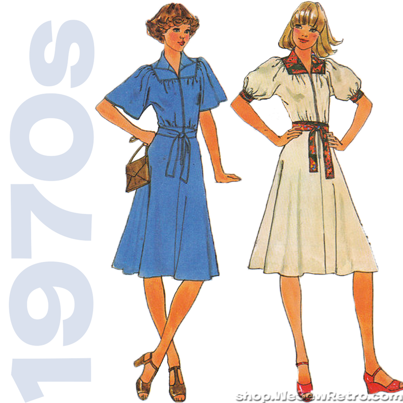 1970s Kimono Dress Vintage Sewing Pattern - Simplicity 7845