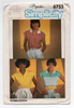 Simplicity 6755 Sewing Pattern - 1980s Vintage Women's Tops Sewing Pattern