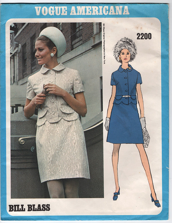 Vogue 2200 - 1960s Bill Blass Vintage Pattern - Vogue Americana Sewing Pattern