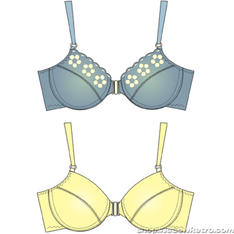 Pin-up Girls Sharon Front Closing Demi Bra Sewing Pattern
