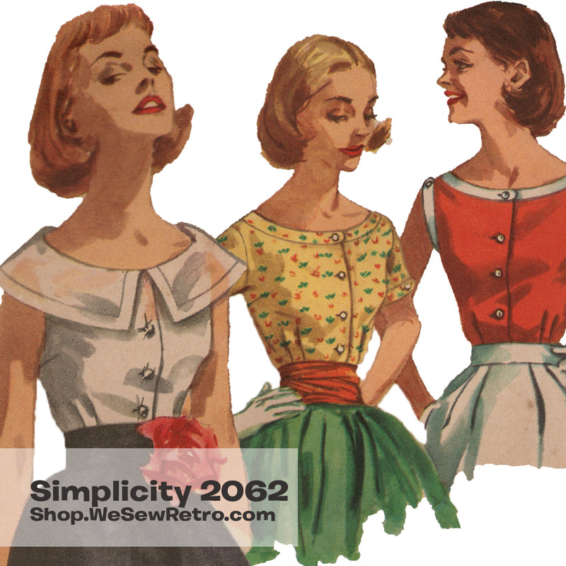 1950s Blouse Vintage Sewing Pattern - Simplicity 2062