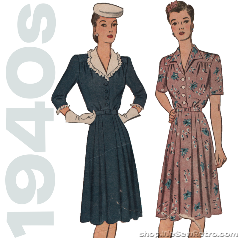 "Simplicity 4679 - 1940s Vintage Pattern - 40"" Bust Dress Pattern"