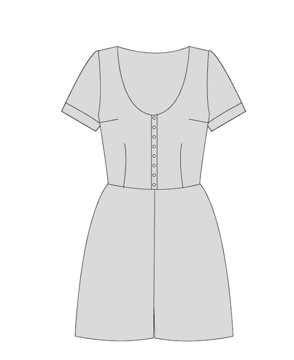 By Hand London Holly Jumpsuit Sewing Pattern
