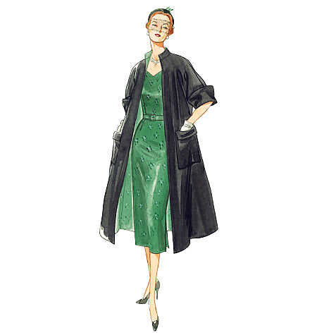 V1137 Vintage Vogue Dress & Coat Sewing Pattern 1950s Vintage Vogue 1137