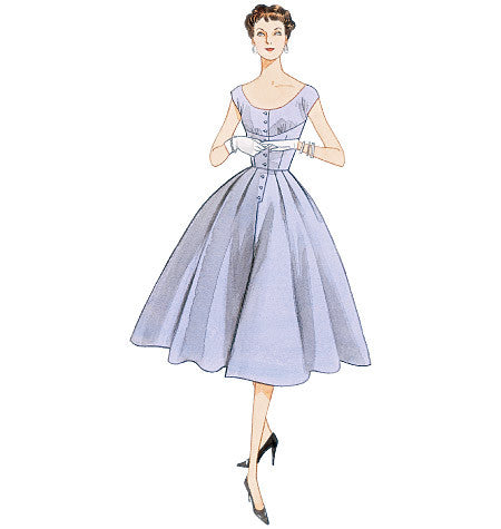 1950s Vintage Vogue V2960: Misses Dress Sewing Pattern Vogue 2960