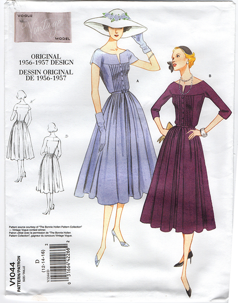 Vintage Vogue 1044 Out Of Print 1950 Dress Sewing