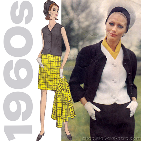 1960s Vintage Vogue Couturier Pattern: Sybil Connolly Separates. Vogue 1877.