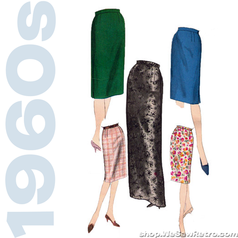 1960s Skirt Vintage Sewing Pattern - Vogue 5376 - Pencil Skirt Pattern