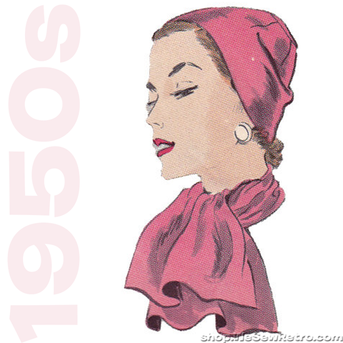 1950s Cloche Hat Vintage Sewing Pattern - Vogue 7929