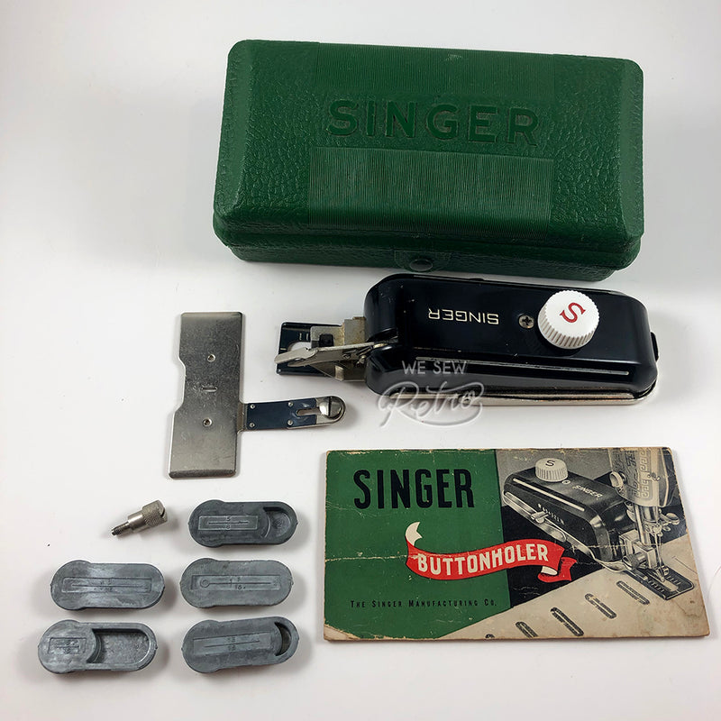 Vintage Singer Buttonholer in Case - Part no. 160506