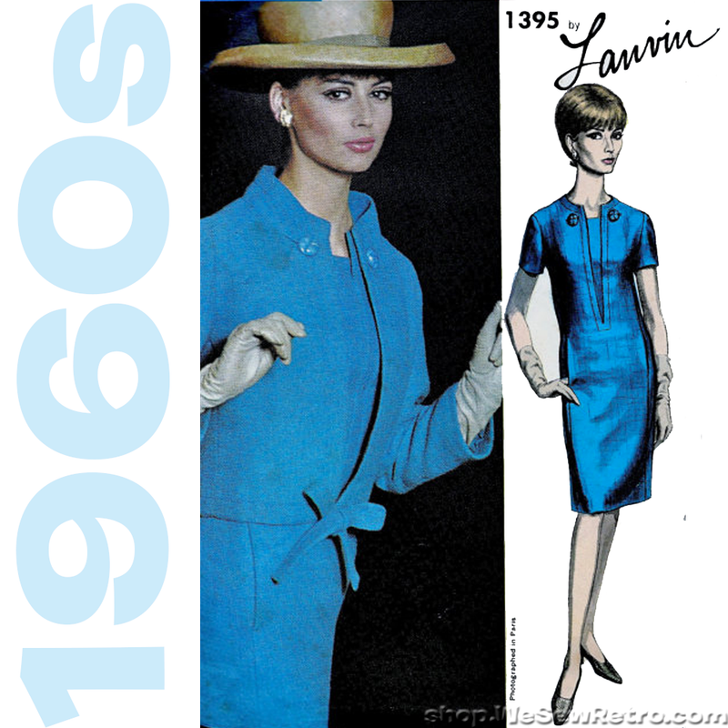Vogue 1395 - 1960s Lanvin Vogue Paris Original Vintage Sewing Pattern
