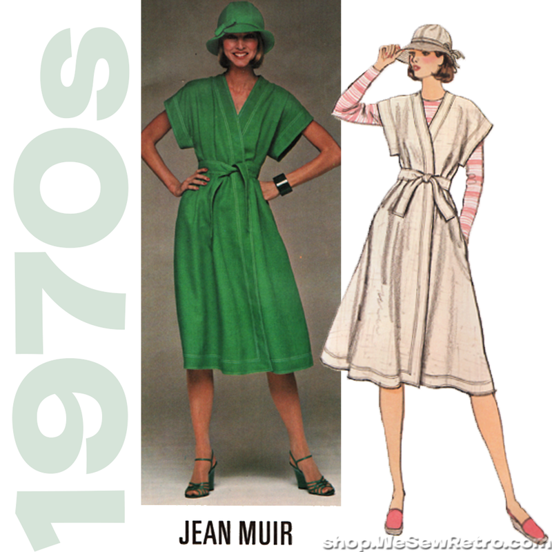 Vogue 1445 - 1970s Jean Muir Designer Original Vintage Sewing Pattern