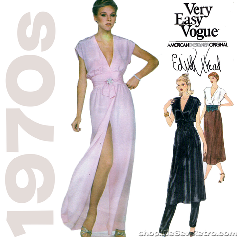 Vogue 2040 - Edith Head American Designer Original Vintage Sewing Pattern