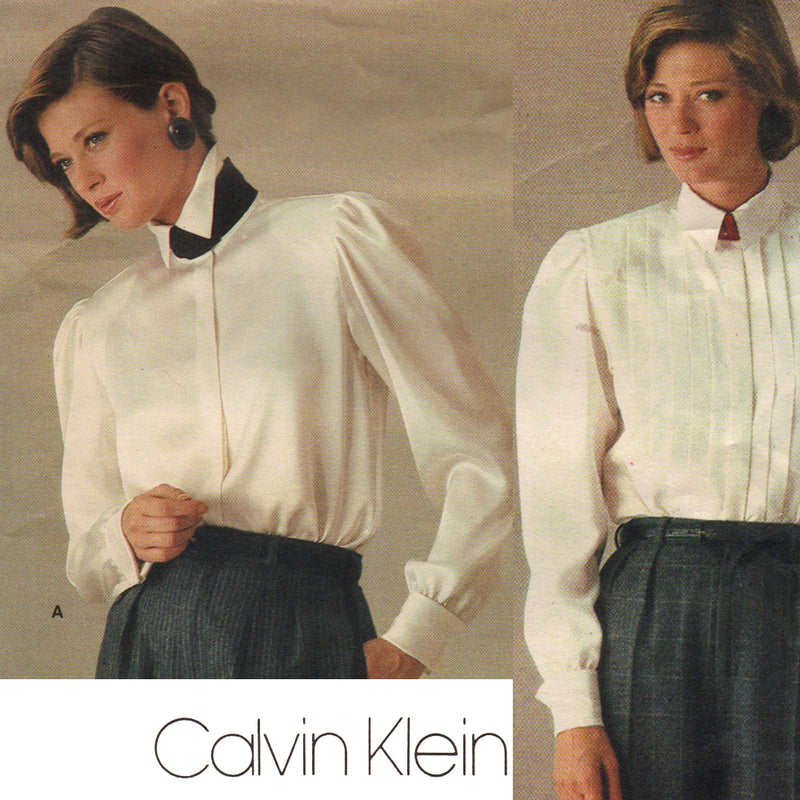 Vogue 1211 Calvin Klein Blouse Vintage Sewing Pattern