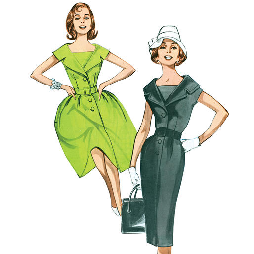 B5747 1960s Dress Sewing Pattern - Butterick 5747 Dress Pattern