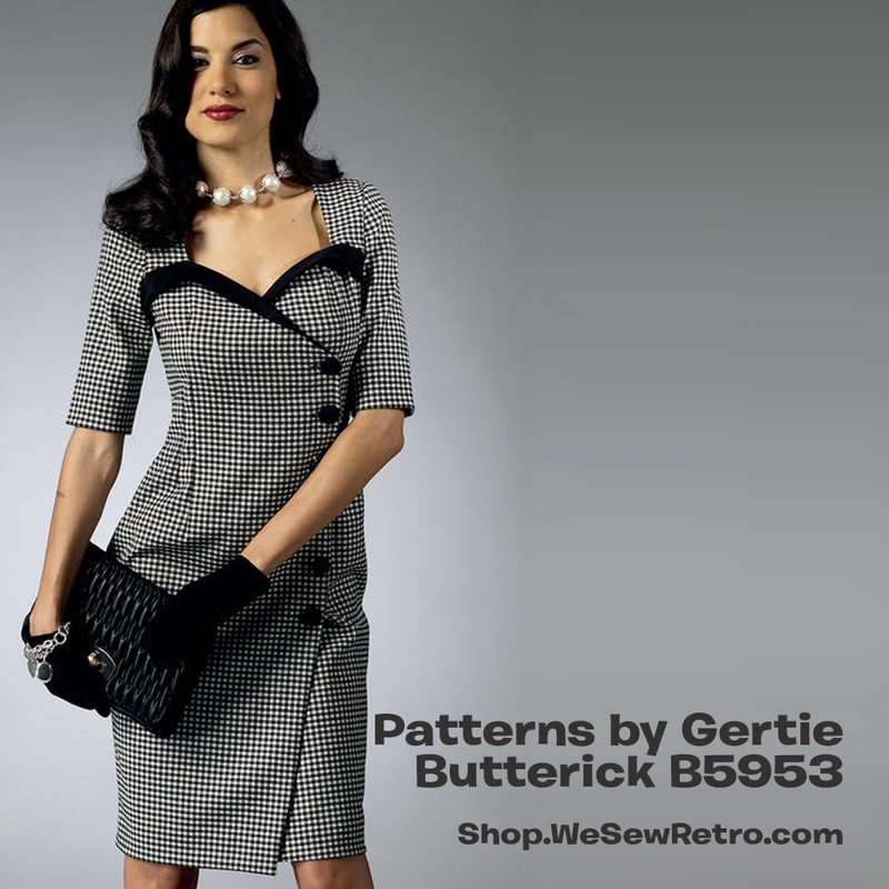 B5953 Patterns by Gertie Dress Sewing Pattern - Butterick 5953 Vintage Inspired Dress Pattern