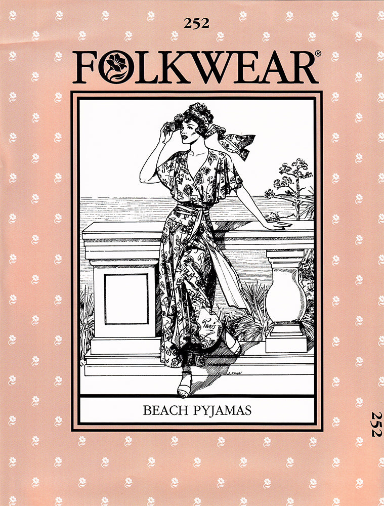 Beach Pajamas Sewing Pattern Folkwear 252
