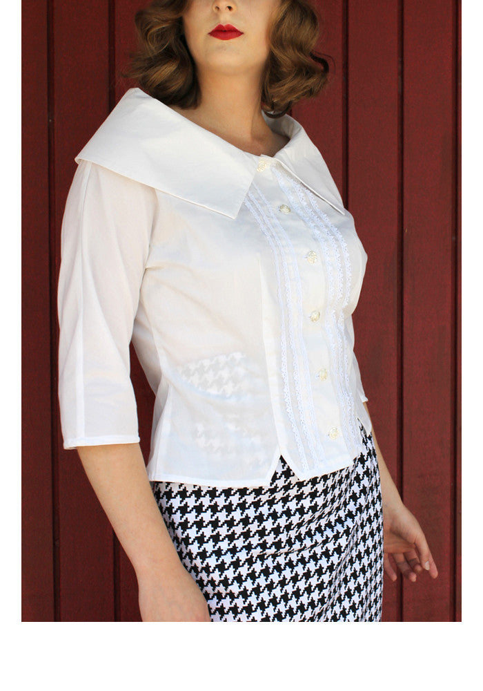 Portrait Blouse Sewing Pattern by Sew Chic Pattern Company