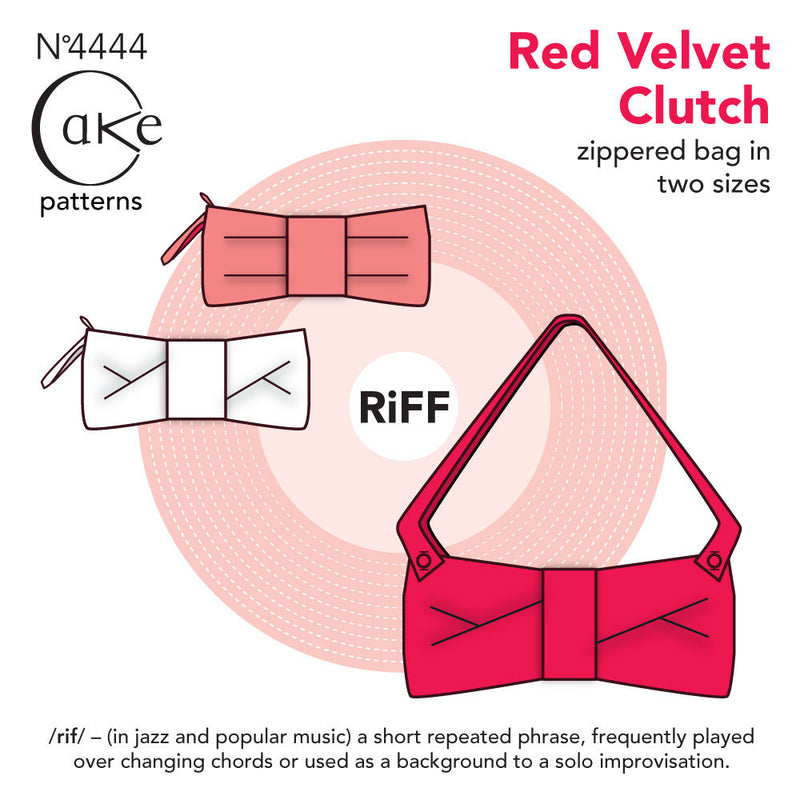 Cake Patterns Red Velvet Clutch Sewing Pattern