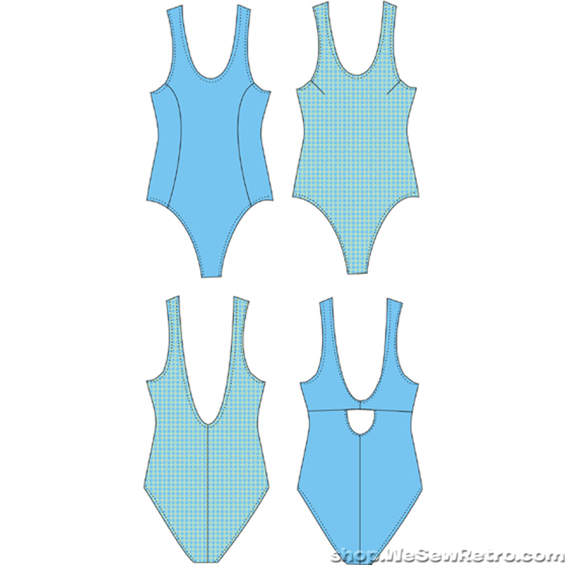 Pin Up Girls Denise Swimsuit Sewing Pattern